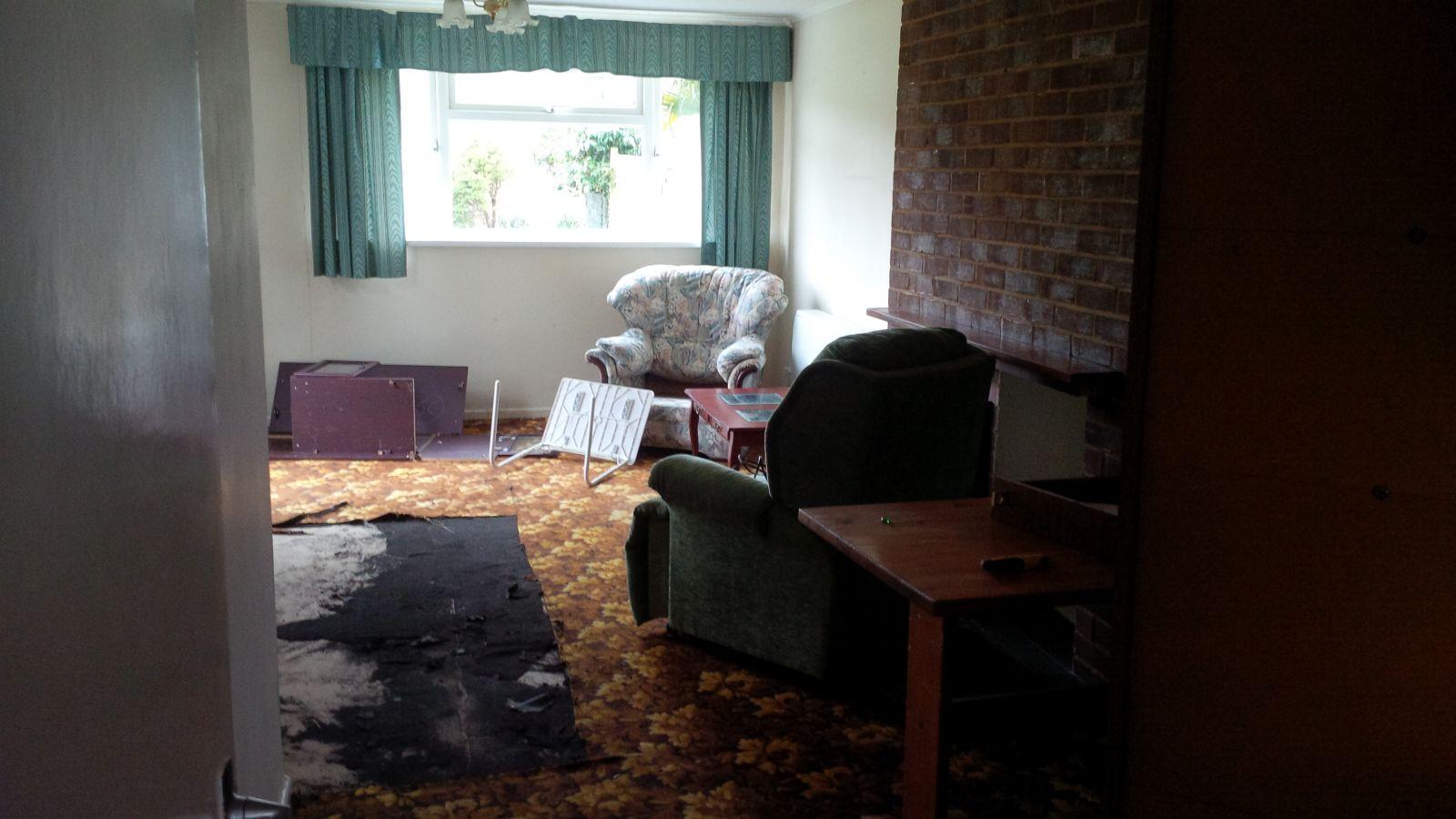 BEFORE junk removal Petersfield