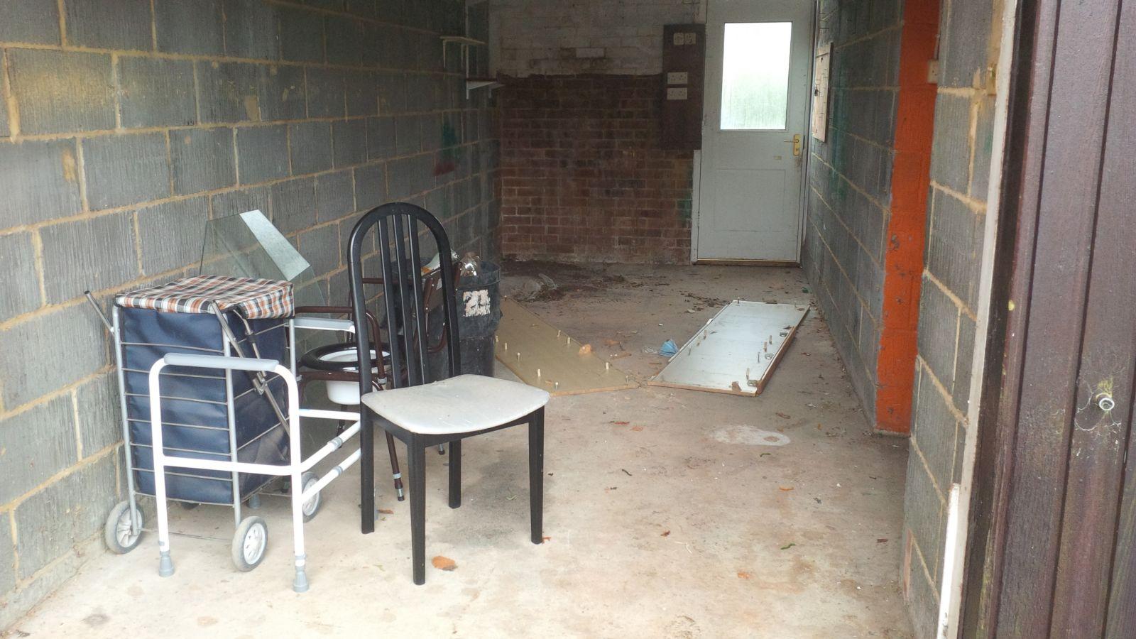 BEFORE garage clearance Petersfield