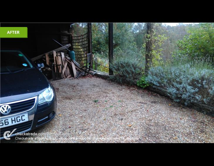 AFTER garage clearance haslemere