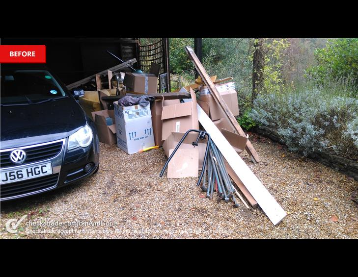 BEFORE garage clearance haslemere