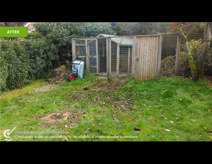 AFTER garden waste collection