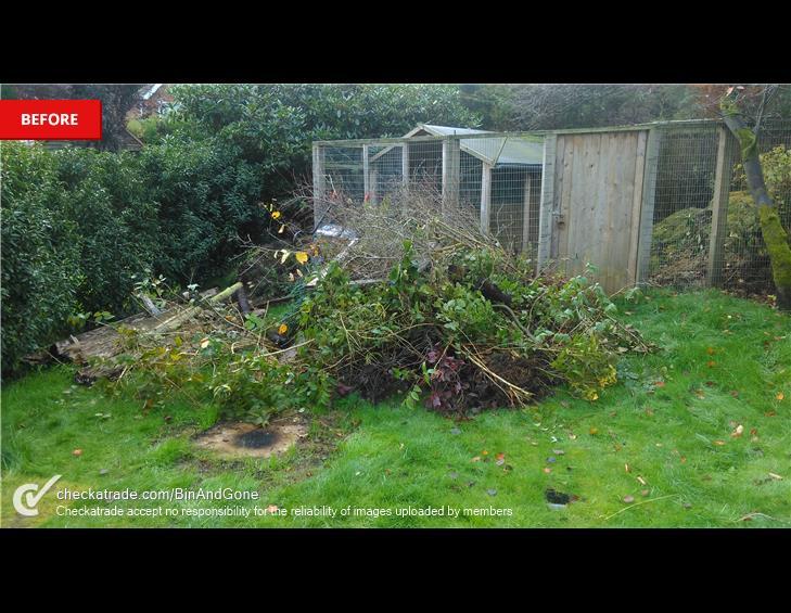 BEFORE garden waste collection frensham