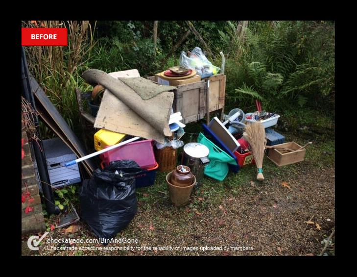 BEFORE waste collection haslemere