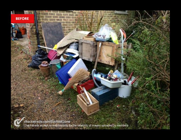 BEFORE junk removal haslemere