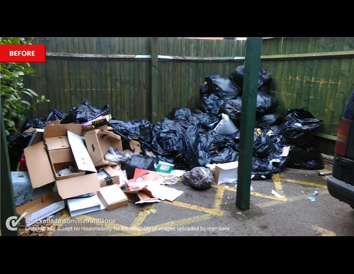 BEFORE hook waste collection
